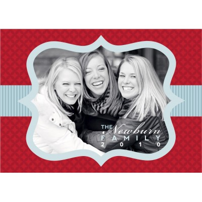 Christmas Photo Holiday Printable Card - Red